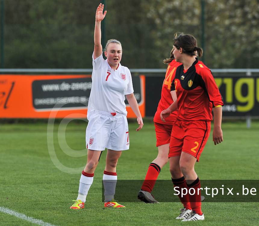 UEFA Women's Under 17 Championship - Second Qualifying round - group 1 : Belgium - England : .Hollie Kelsh.foto DAVID CATRY / Vrouwenteam.be