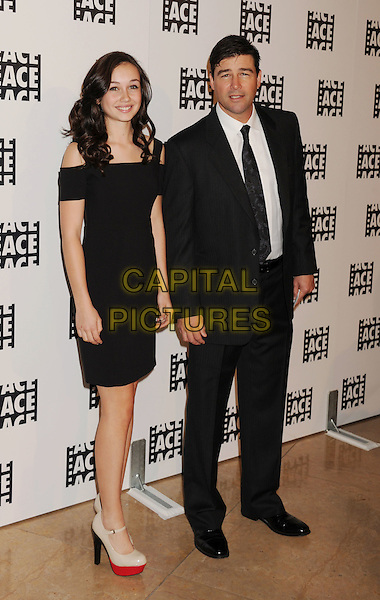 Sydney Chandler & Kyle Chandler.The 62nd Annual ACE Eddie Awards at the Beverly Hilton Hotel in Beverly Hills, California, USA..February 18, 2012.full length black suit off the shoulder suit white shirt married husband wife.CAP/ROT/TM.©Tony Michaels/Roth Stock/Capital Pictures