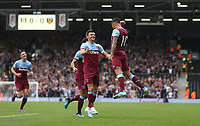West Ham United's Manuel Lanzini celebrates scoring his side's first goal <br /> <br /> Photographer Rob Newell/CameraSport<br /> <br /> Football Pre-Season Friendly - Fulham v West Ham United - Saturday July 27th 2019 - Craven Cottage - London<br /> <br /> World Copyright © 2019 CameraSport. All rights reserved. 43 Linden Ave. Countesthorpe. Leicester. England. LE8 5PG - Tel: +44 (0) 116 277 4147 - admin@camerasport.com - www.camerasport.com