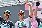 German Champion Pascal Ackermann (GER) and Bora-Hansgrohe at sign on before the start of Stage 13 of the 2019 Giro d'Italia, running 196km from Pinerolo to Ceresole Reale (Lago Serrù), Italy. 24th May 2019<br /> Picture: Massimo Paolone/LaPresse | Cyclefile<br /> <br /> All photos usage must carry mandatory copyright credit (© Cyclefile | Massimo Paolone/LaPresse)