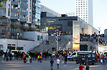 Police form a cordon as fans arrive during the UEFA Europa League Final match at the Friends Arena, Stockholm. Picture date: May 24th, 2017.Picture credit should read: Matt McNulty/Sportimage