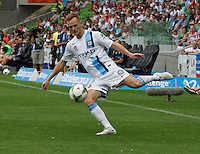 Jack Clisby  during the  A-League soccer match between Melbourne City FC and Perth Glory at AAMI Park on February 22, 2015 in Melbourne, Australia.