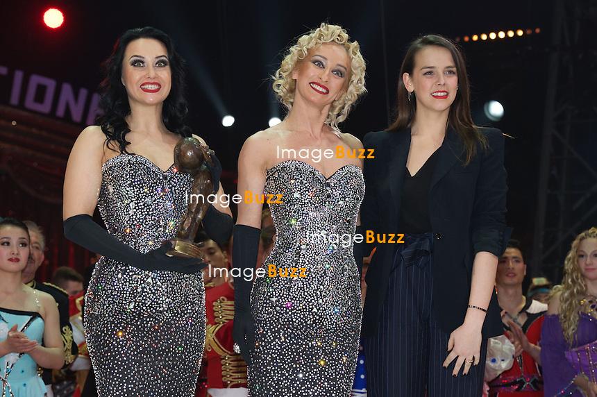 January 20, 2015 - 39th International Circus Festival of Monte-Carlo Awards ceremony. Pauline Ducruet gives 'Bronze Clown' to Black & White Duo.
