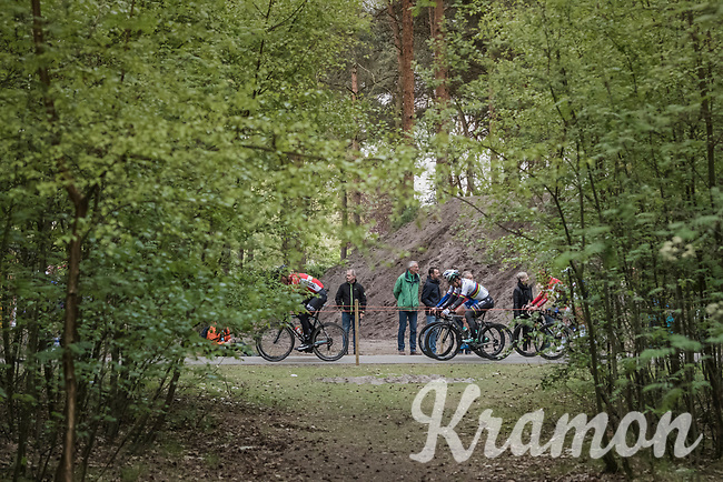 Peter Sagan (SVK/Bora-Hansgrohe) & co cruising through the woods around the 'Silverlake' in Mol at the Tom Boonen farewell race/criterium 'Tom Says Thanks!' in Mol/Belgium