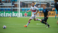 SAN JOSE, CA - MAY 18: Aleksandar Katai #10 of the Chicago Fire during a Major League Soccer (MLS) match between the San Jose Earthquakes and the Chicago Fire on May 18, 2019 at Avaya Stadium in San Jose, California.
