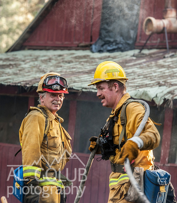 Greeley Hill, California, June 2, 2013--First fire of the season was a small Fire off Greeley Hill Lane.  Units from Greeley Hill Fire and Coulterville Fire were helped out by the Coulterville Cal Fire engine.  Photo by Al Golub/Golub Photography