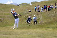 Justin Harding (RSA) plays his 2nd shot on the 4th hole during Thursday's Round 1 of the Dubai Duty Free Irish Open 2019, held at Lahinch Golf Club, Lahinch, Ireland. 4th July 2019.<br /> Picture: Eoin Clarke | Golffile<br /> <br /> <br /> All photos usage must carry mandatory copyright credit (© Golffile | Eoin Clarke)