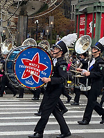 NEW YORK, NY - NOVEMBER 28: Marching band at the Macy's Thanksgiving Day Parade in New York, New York on November 28, 2019.  <br /> CAP/MPI/RMP<br /> ©RMP/MPI/Capital Pictures
