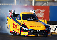 Feb 4, 2016; Chandler, AZ, USA; NHRA funny car driver Del Worsham during pre season testing at Wild Horse Pass Motorsports Park. Mandatory Credit: Mark J. Rebilas-USA TODAY Sports