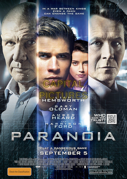 AUSTRALIAN POSTER ART<br /> in Paranoia (2013) <br /> *Filmstill - Editorial Use Only*<br /> CAP/FB<br /> Image supplied by Capital Pictures