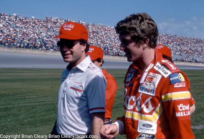 Daytona 500, Daytona International Speedway, Daytona Beach, FL, February 1985. (Photo by Brian Cleary/www.bcpix.com)