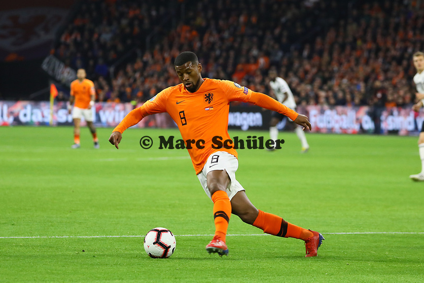 Georginio Wijnaldum (Niederlande) - 24.03.2019: Niederlande vs. Deutschland, EM-Qualifikation, Amsterdam Arena, DISCLAIMER: DFB regulations prohibit any use of photographs as image sequences and/or quasi-video.