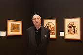 """Pictured: German artist and collector Georg Baselitz Hon RA (*1938), Press preview of the exhibition """"Renaissance Impressions: Chiaroscuro Woodcuts from the Collections of Georg Baselitz and the Albertina, Vienna"""", opens at the Royal Academy of Art on 15 March 2014. The exhibition at the Sackler Wing of Galleries runs from 15 March to 8 June 2014 and presents over 150 rare prints by the chief practitioners of the Chiaroscuro woodcutting technique in Germany, Italy and the Netherlands held at the Albertina Museum in Vienna and in the personal collection of the Honorary Royal Academian Georg Baselitz."""