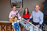 Mike Coffey with his family Leanne, Paudie and Tara who have released their Entertainment During Lockdown CD