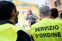 Giuseppe Farina segretario della FIM cisl<br /> Roma 30-09-2014 Manifestazione dei metalmeccanici della Fim Cisl davanti a Montecitorio.<br /> Photo Samantha Zucchi Insidefoto