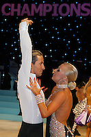 Marcin Niewiadomski and Katarzyna Zurawska of Poland perform their dance during the Amateur Latin-American competition of the UK Open Dance Championships held in Bournemouth International Centre. Organised by Dance News Special Events Ltd. Bournemouth, Great Britain, Wednesday, 21. January 2009. ATTILA VOLGYI
