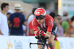 Michael Storer (AUS) Team Sunweb in action during Stage 1 of La Vuelta 2019, a team time trial running 13.4km from Salinas de Torrevieja to Torrevieja, Spain. 24th August 2019.<br /> Picture: Eoin Clarke | Cyclefile<br /> <br /> All photos usage must carry mandatory copyright credit (© Cyclefile | Eoin Clarke)