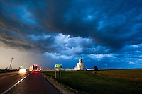 Thunderstorm at Night in Greensburg, KS