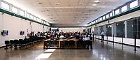 Panoramica dell'Aula Bunker<br /> Roma 20-07-2015 Aula Bunker di Rebibbia. Sentenza in primo grado del processo 'Mafia Capitale'.<br /> Rome July 20th. Bunker Hall of Rebibbia penitentiary. First grade sentence for the process, 'Mafia Capitale'.<br /> Photo Samantha Zucchi Insidefoto