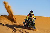 12th January 2020, Riyadh, Saudi Arabia;  19 Svitko Stefan (svk), KTM, Slovnaft Rally Team, Moto, Bike, action during Stage 7 of the Dakar 2020 between Riyadh and Wadi Al-Dawasir, 741 km - SS 546 km, in Saudi Arabia  - Editorial Use
