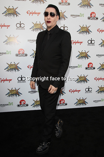 Los Angeles, CA - April 23: Marilyn Manson Attending 2014 Revolver Golden Gods Awards At Club Nokia California on April 23, 2014.<br /> Credit: RTNUPA/MediaPunch<br />
