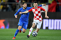 Manuel Locatelli of Italy and Filip Uremovic of Croatia compete for the ball during international friendly match between Italy U21 and Croatia U21 at stadio Benito Stirpe, Frosinone, March 25, 2019 <br /> Photo Andrea Staccioli / Insidefoto