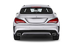 Straight rear view of a 2015 Mercedes Benz CLA Class 220 AMG line 5 Door Wagon stock images