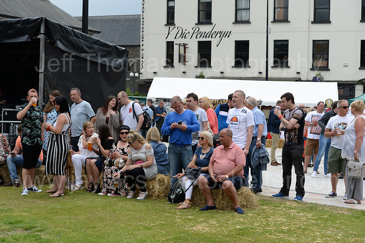 Visitors at the event enjoying the music during the Merthyr Rising Festival 2016 in Merthyr Tydfil on Saturday June 4th and Sunday June 5th 2016. <br /> <br /> <br /> Jeff Thomas Photography -  www.jaypics.photoshelter.com - <br /> e-mail swansea1001@hotmail.co.uk -<br /> Mob: 07837 386244 -