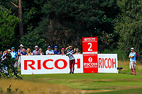 Jaye Marie Green (USA) on the 2nd tee during Round 3 of the Ricoh Women's British Open at Royal Lytham &amp; St. Annes on Saturday 4th August 2018.<br /> Picture:  Thos Caffrey / Golffile<br /> <br /> All photo usage must carry mandatory copyright credit (&copy; Golffile | Thos Caffrey)