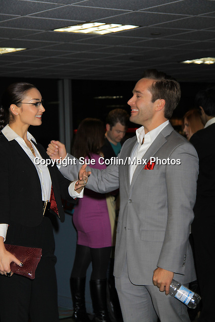 "As The World Turns Ewa De Cruz and Tyler Hollinger are in the film and at the premiere of ""Excuse Me For Living"" on October 12, 2012 at AMC Loews Village 7, New York City, New York.  (Photo by Sue Coflin/Max Photos)"