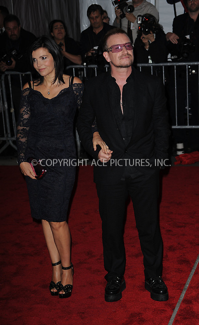 WWW.ACEPIXS.COM . . . . . ....May 4 2009, New York City....Ali Hewson and Bono arriving at 'The Model as Muse: Embodying Fashion' Costume Institute Gala at The Metropolitan Museum of Art on May 4, 2009 in New York City.....Please byline: KRISTIN CALLAHAN - ACEPIXS.COM.. . . . . . ..Ace Pictures, Inc:  ..tel: (212) 243 8787 or (646) 769 0430..e-mail: info@acepixs.com..web: http://www.acepixs.com