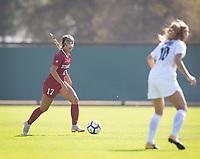 STANFORD, CA - October 21, 2018: Sam Hiatt at Laird Q. Cagan Stadium. No. 1 Stanford Cardinal defeated No. 15 Colorado Buffaloes 7-0 on Senior Day.