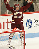 Emily Field (BC - 15) - The Northeastern University Huskies defeated Boston College Eagles 4-3 to repeat as Beanpot champions on Tuesday, February 12, 2013, at Matthews Arena in Boston, Massachusetts.