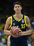 15.05.2018, EWE Arena, Oldenburg, GER, BBL, Playoff, Viertelfinale Spiel 4, EWE Baskets Oldenburg vs ALBA Berlin, im Bild<br /> Zunge raus<br /> beim Freiwurf....<br /> Bogdan RADOSAVLJEVIC (ALBA Berlin #15 )<br /> Foto &copy; nordphoto / Rojahn