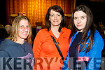 On Stage<br /> ------------<br /> Attending the first night of the stage play ' Who's D' Daddy ' at Camp community hall last Thursday were L-R Ailise Deane, Carol Goodwin with Claire McCormack.