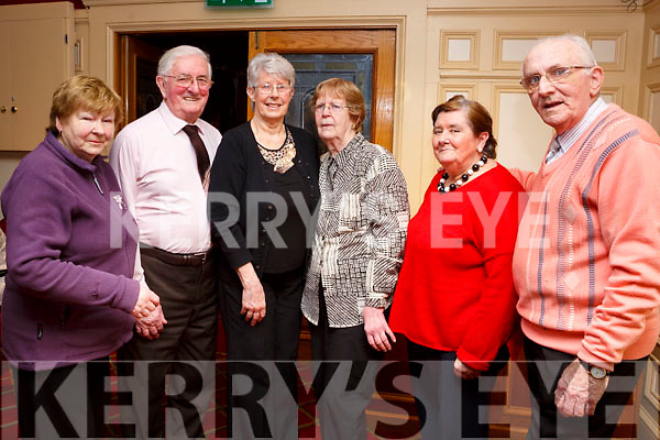 Attending the Sliabh Luachra Active Retirement Tea Dance afternoon in the River Island Hotel, Castleisland on Sunday last, l-r, Breda Cleary (Tralee), John Conway (Clonmel), Margaret Boyle (Tralee), Marie Barron (Tralee), Kay Long (Tralee) and Michael Long (Tralee).