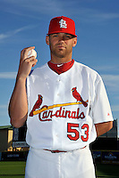 Mar 01, 2010; Jupiter, FL, USA; St. Louis Cardinals pitcher Blake Hawksworth (53) during  photoday at Roger Dean Stadium. Mandatory Credit: Tomasso De Rosa/ Four Seam Images