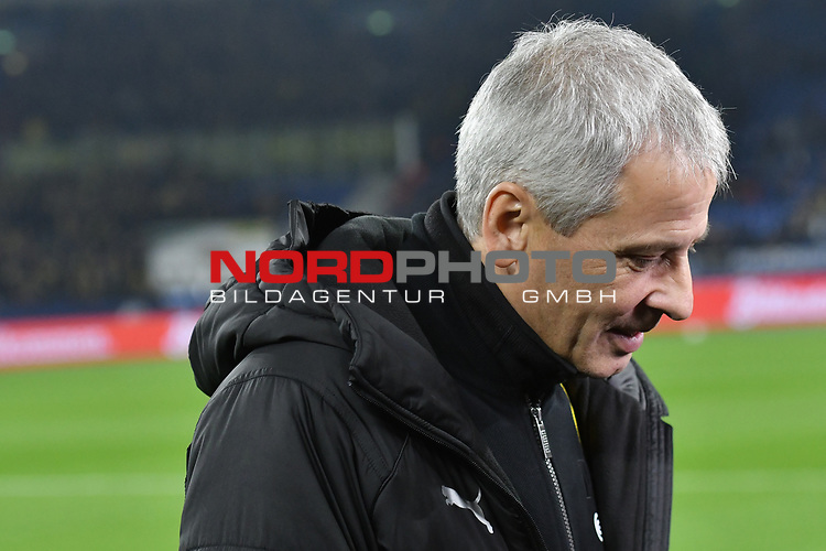 08.12.2018, Veltins-Arena, Gelsenkirchen, GER, 1. FBL, FC Schalke 04 vs. Borussia Dortmund, DFL regulations prohibit any use of photographs as image sequences and/or quasi-video<br /> <br /> im Bild Lucien Favre (Borussia Dortmund) Portrait, halbportrait, Bild, einzel, Einzelaufnahme, picture, single, solo, alleine <br /> <br /> Foto &copy; nordphoto/Mauelshagen