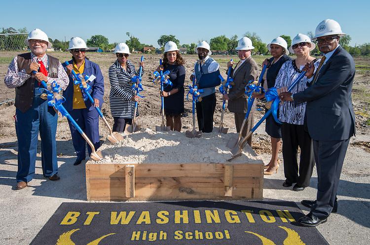 Ground breaking ceremonies at Washington High School, April 5, 2016.