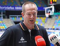 Bundestrainer Henrik Rödl (Deutschland) im Interview - 20.02.2018: Deutsche Nationalmannschaft bereitet sich auf das WM-Quali-Spiel gegen Serbien vor, Fraport Arena Frankfurt