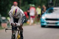 Egan Bernal Gomez (COL/SKY)<br /> <br /> Stage 20 (ITT): Saint-Pée-sur-Nivelle >  Espelette (31km)<br /> <br /> 105th Tour de France 2018<br /> ©kramon