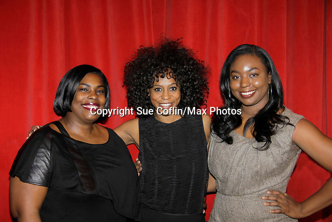 Carmencita Whonder -  Stacie Henderson - Marielle Bobo on a panel at Color of Beauty which recognizes stylish people of color with a one-day event featuring topical panel discussions followed later tonght with a red carpet awards ceremony. The event was on February 4, 2014 at New York University, New York City, NY. (Photo by Sue Coflin/Max Photos)