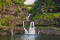 Seven Sacred Pools, also known as 'Ohe'o Gulch, Haleakala National Park, Hana, southeastern Maui.