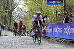 Corendon-Circus rider on the the first ascent of the Kemmelberg during the 2019 Gent-Wevelgem in Flanders Fields running 252km from Deinze to Wevelgem, Belgium. 31st March 2019.<br /> Picture: Eoin Clarke | Cyclefile<br /> <br /> All photos usage must carry mandatory copyright credit (© Cyclefile | Eoin Clarke)