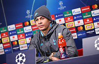 9th March 2020, Red Bull Arena, Leipzig, Germany; Champions League football, Leipzig versus Tottenham Hotspur; Tottenham Press conference and training sessions the day before their match;  Dele Alli of Tottenham Hotspur speaks to the press