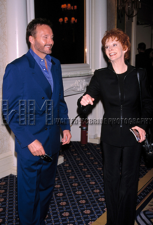 Reba McEntire and Husband Narvel Blackstock attend the<br /> Drama League 2000-2001 Awards at the<br /> Grand Hyatt on May 11, 2001 in New York City.