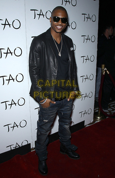 Trey Songz (Tremaine Aldon Neverson).Special Appearance by Trey Songz at TAO inside the Venetian Las Vegas for Memorial Day Weekend, Las Vegas, Nevada, USA, 25th May 2012..full length jeans black leather jacket sunglasses .CAP/ADM/MJT.© MJT/AdMedia/Capital Pictures.