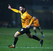 5th February 2019, Rodney Parade, Newport, Wales; FA Cup football, 4th round replay, Newport County versus Middlesbrough; Padraig Amond of Newport County celebrates scoring Newport County's 2nd goal in the 67th minute making it 2-0