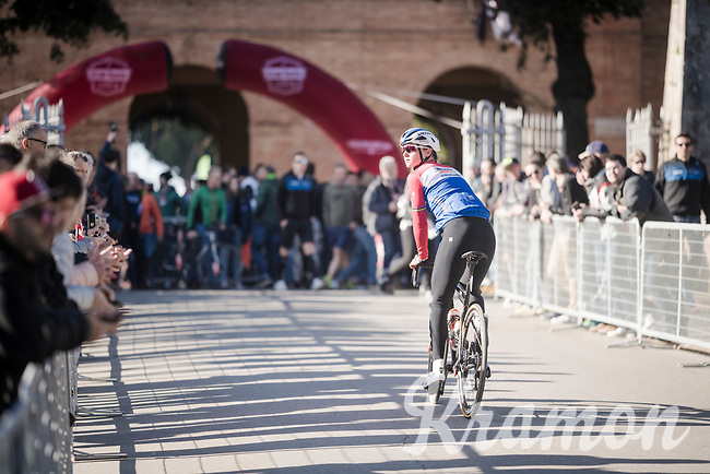 Dutch National Champion Chantal Blaak (NED/Boels - Dolmans) on her way to the start<br /> <br /> 13th Strade Bianche 2019 (1.UWT)<br /> One day race from Siena to Siena (136km)<br /> <br /> ©kramon