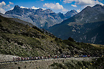 "Part of the 34 man breakaway group climb Col de Vars 7'30"" ahead during Stage 18 of the 2019 Tour de France running 208km from Embrun to Valloire, France. 25th July 2019.<br /> Picture: ASO/Pauline Ballet 